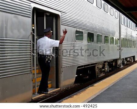 Commuter train conductor