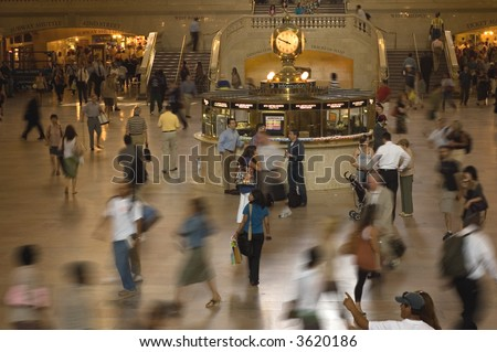 Commuters, Grand Central - stock photo