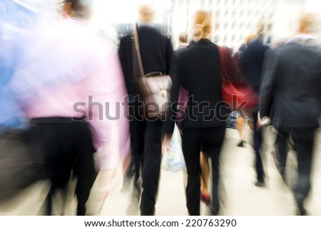 Commuters in London - stock photo