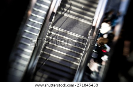 Commuting in a train station - stock photo
