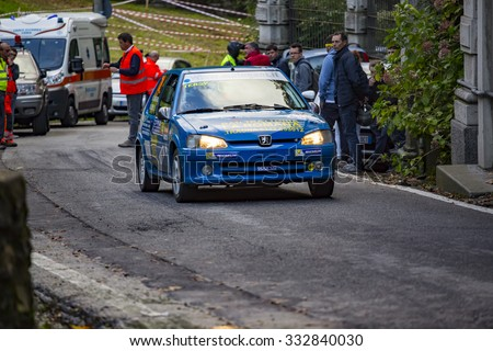 Como (Italy) October 16, 2015 - 34th edition of the Italian Championship WRC, starts and finishes in the city of Como
