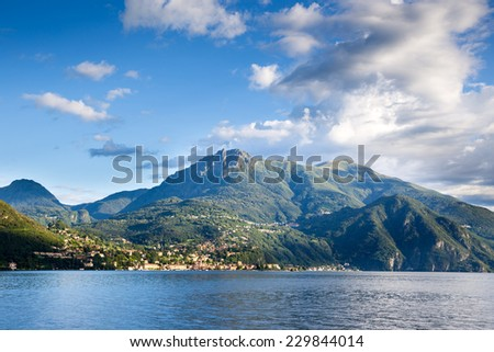 Como Lake. Northern Italy. European travel, vacation, summer, destination, exploration and lifestyle concept. - stock photo