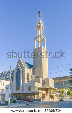 COMODORO RIVADAVIA, ARGENTINA, MARCH   2016   Exterior View Of Modern Church  Located In
