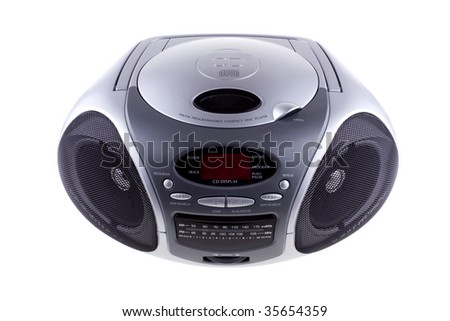 Compact disc player with radio - stock photo