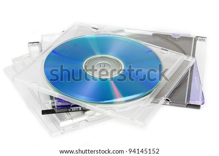 Compact Discs (CDs) stored in a plastic case