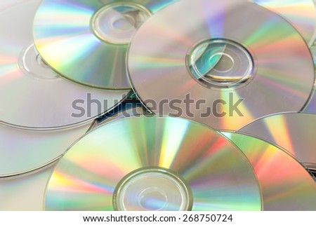 compact disks - stock photo
