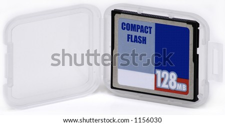 Compact Flash Card in Case