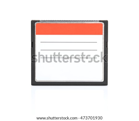 Compact Flash memory cards (CF card) isolate on white background