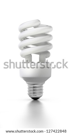 Compact fluorescent lamp - stock photo