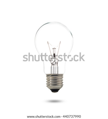 Compact Fluorescent Lamp with lighting on the white backgrounds, Idea for your design