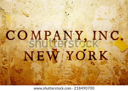 Company inc - stock photo