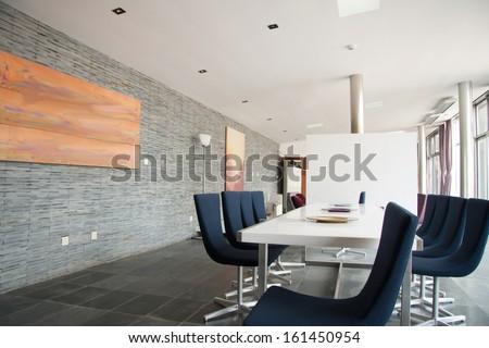 Company lobby - stock photo
