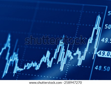 Company share price information  - stock photo
