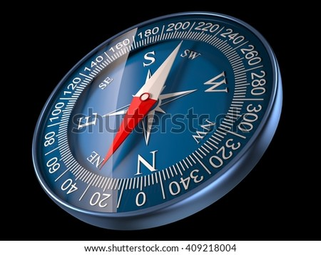 Compass 3D Illustration - stock photo