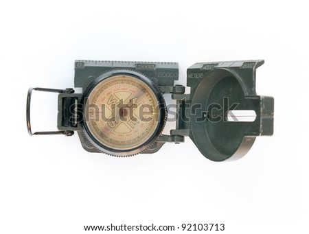 Compass for the military. - stock photo
