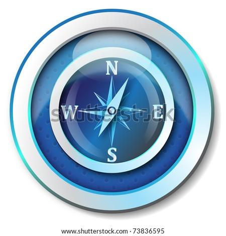Compass icon - stock photo