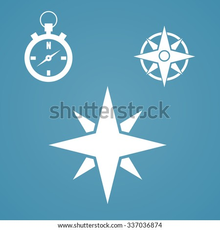 Compass icon isolated on white background. - stock photo