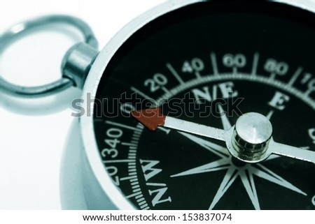 Compass in Close Up - stock photo