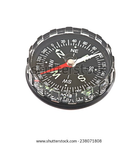 compass isolated on a white background - stock photo