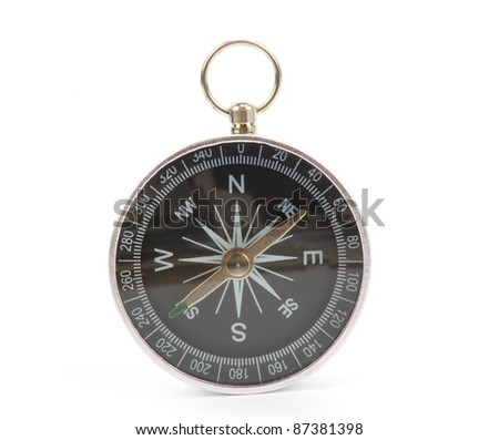 Compass isolated on the white - stock photo