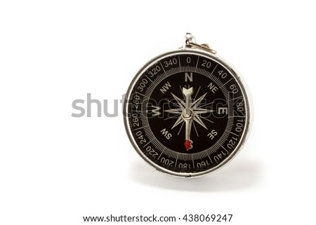 compass isolated white background