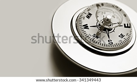 Compass on the white background. Grunge