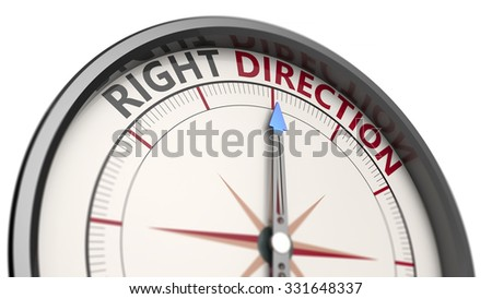 Compass pointing in the right direction