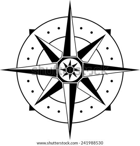 compass. raster version - stock photo