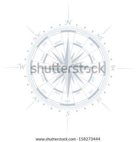 Compass rose, raster copy - stock photo
