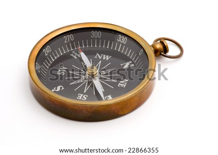 compass studio isolated over white - stock photo