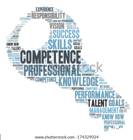 Competence word cloud - stock photo