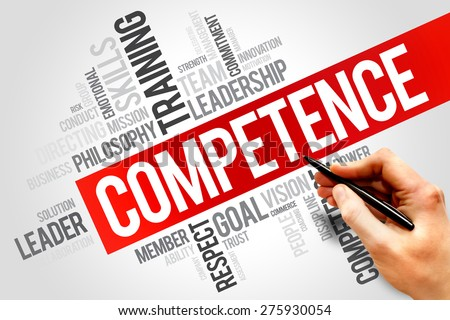 COMPETENCE word cloud, business concept - stock photo