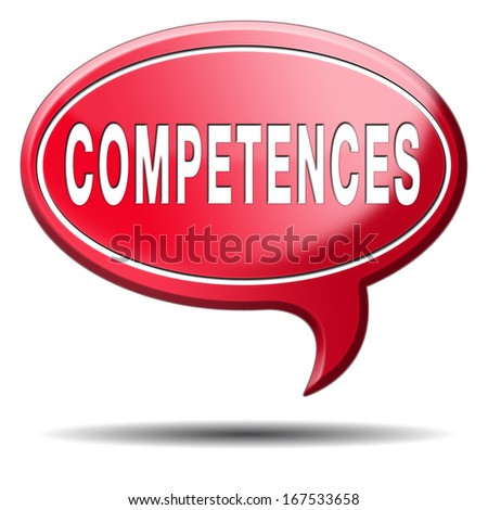 competences competence or job skill can make you expert professional - stock photo