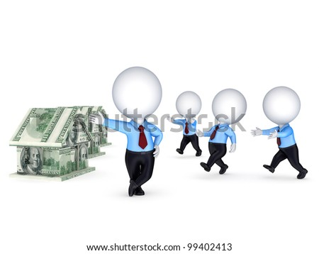 Competition concept.Isolated on white background.3d rendered.