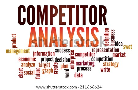 Competitor Analysis  in word collage - stock photo