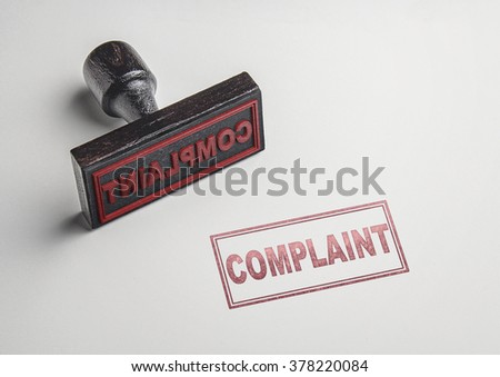 Complaint printing red stamp and imprint