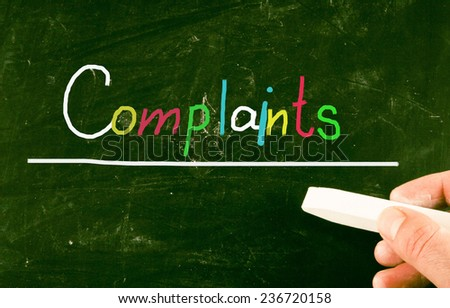 complaints concept - stock photo
