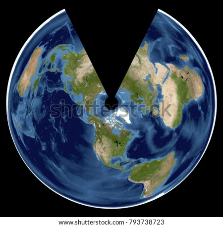 Complete earth view space high resolution stock photo download now complete earth view from space high resolution world map illustration in cartographic projection data gumiabroncs Gallery