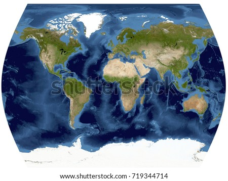 Satellite Map Stock Images RoyaltyFree Images Vectors - World map from satellite