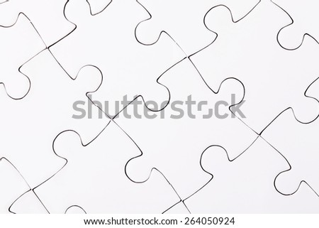Complete puzzle / jigsaw template for print  - stock photo