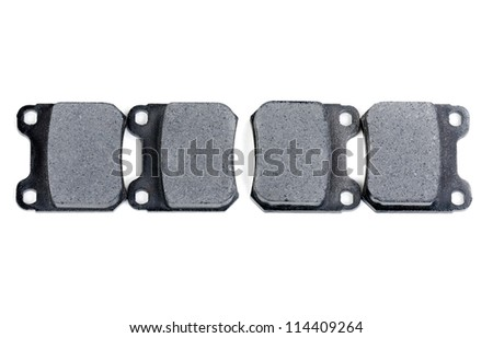 complete set of brake blocks isolated on a white background