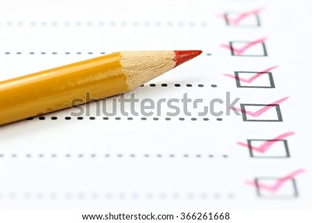 completed checklist - stock photo