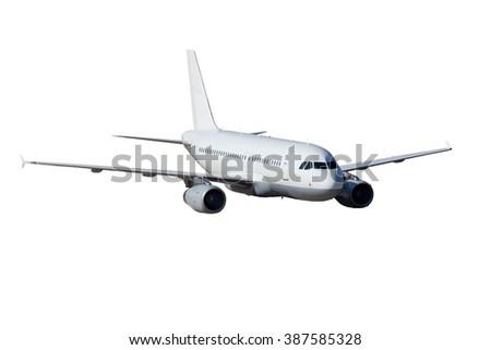Completely white plane - stock photo