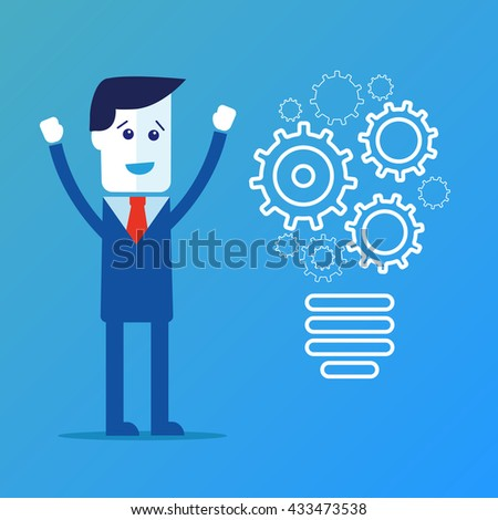 Completing Idea. Business illustration  - stock photo