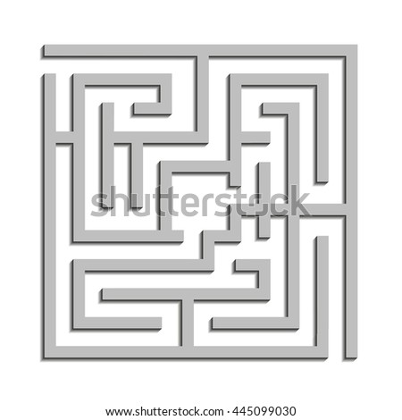 Complex maze - stock photo
