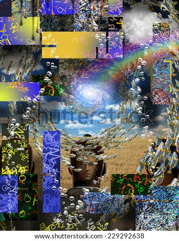 Complex Surreal Abstract Art - stock photo