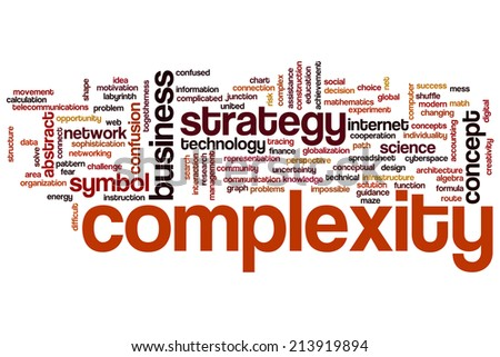 Complexity concept word cloud background - stock photo