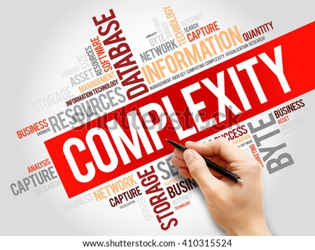 Complexity word cloud, business concept - stock photo