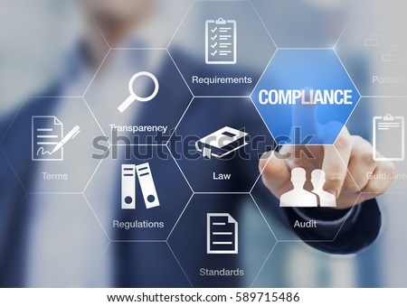 Compliance Concept Icons Regulations Law Standards Stock Photo (Royalty Free) 589715486 ...