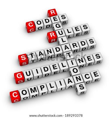 compliance crossword puzzle - stock photo